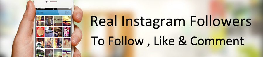 Real instagram followers !!